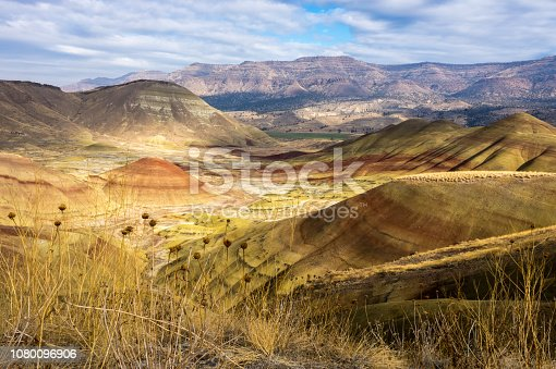 Colorful stripes streak through the Painted Hills in eastern Oregon
