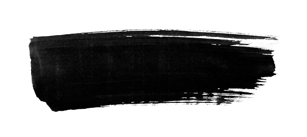 Painted image with brush stroke isolated on white background