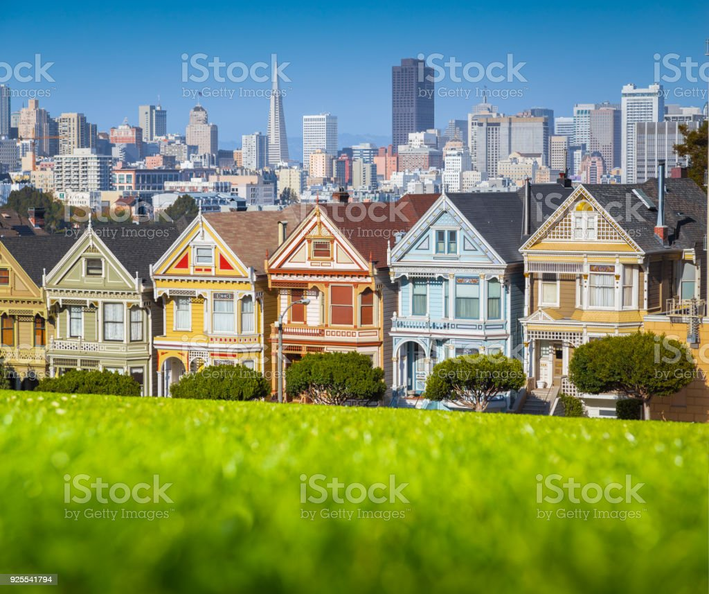 Painted Ladies am Alamo Square, San Francisco, Kalifornien, USA – Foto