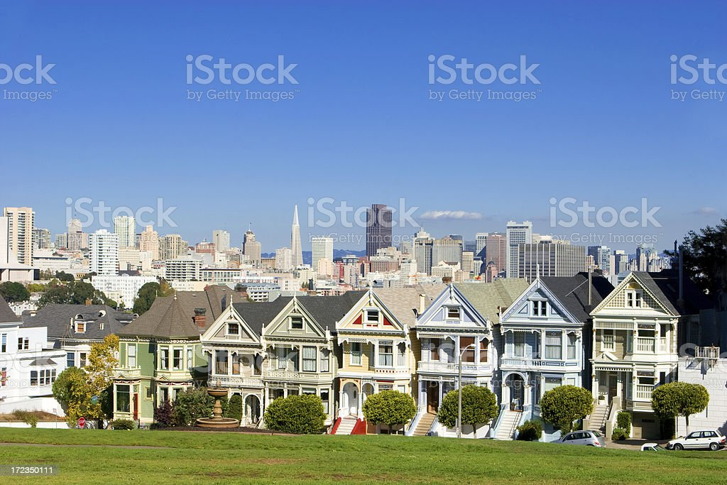 Painted Ladies of San Francisco royalty-free stock photo