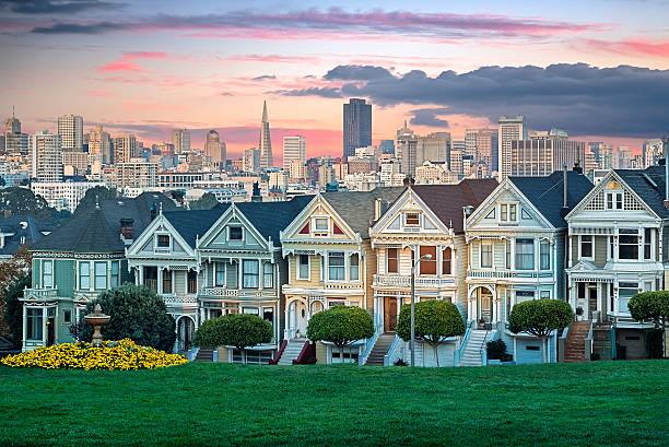 Painted Ladies of San Francisco stock photo