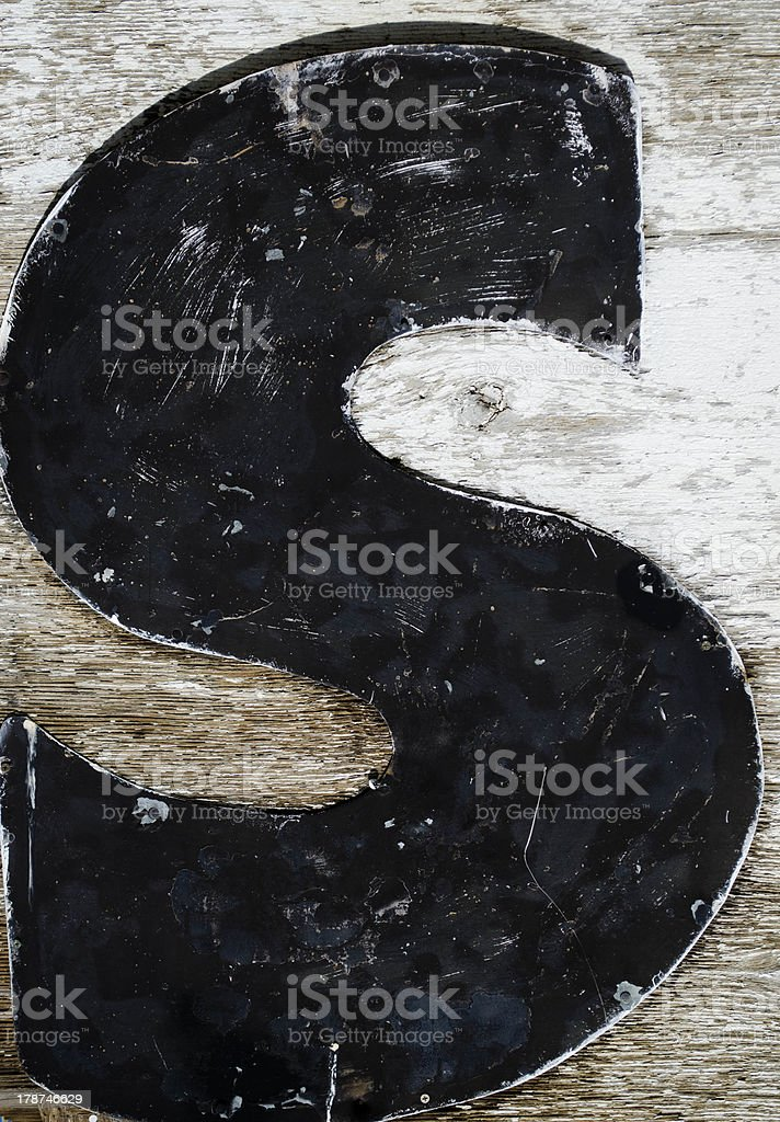 painted letter s stock photo