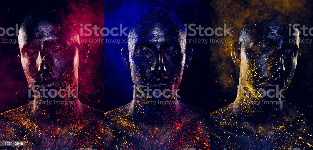 Painted Man-Composite stock photo