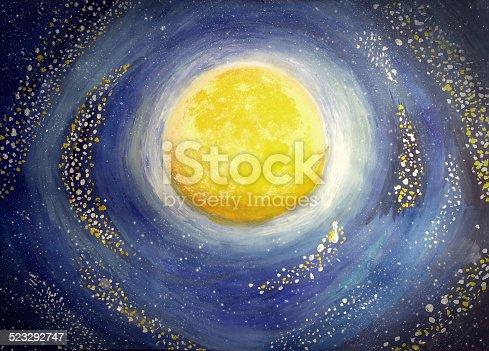 478539432istockphoto Painted moon 523292747