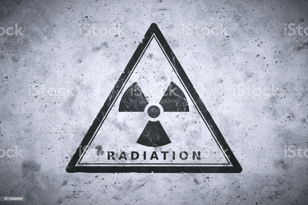Painted Nuclear Warning Sign Stock Photo - Download Image Now - iStock