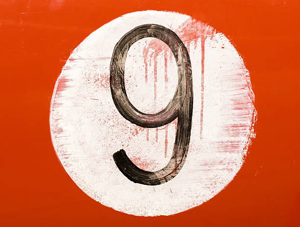 Painted number on an old car stock photo
