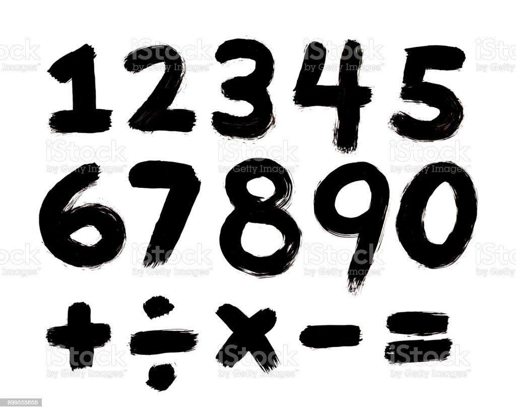 Painted Numbers stock photo