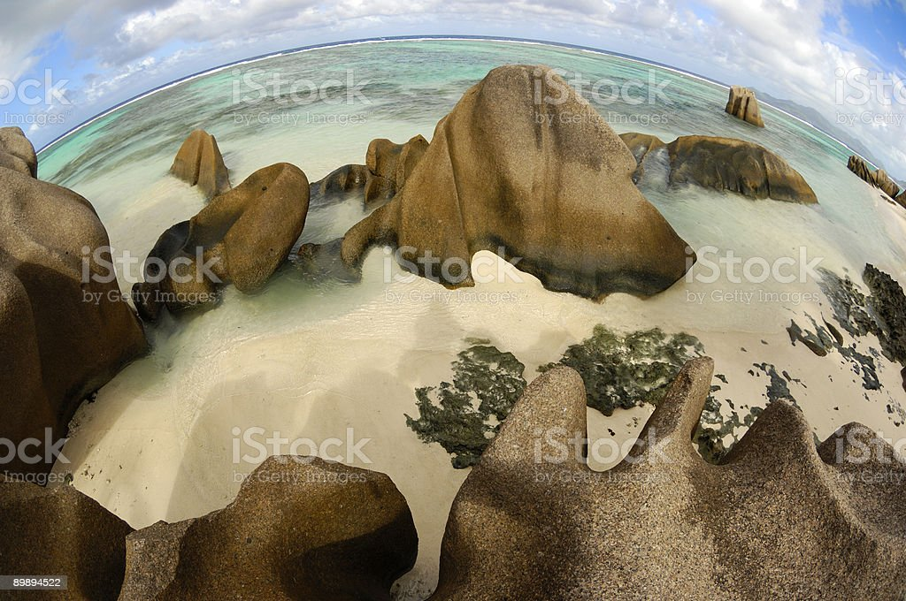 Painted ocean royalty-free stock photo