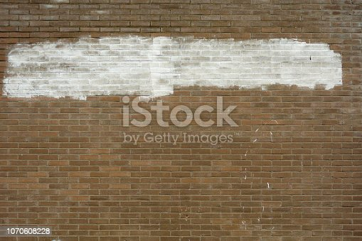 Stone wall with white copy space Stones randomly mixed and extra white to avoid id the remains of the text