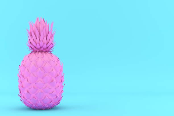 rosa und blaue ananas gemalt - popmusiker stock-fotos und bilder