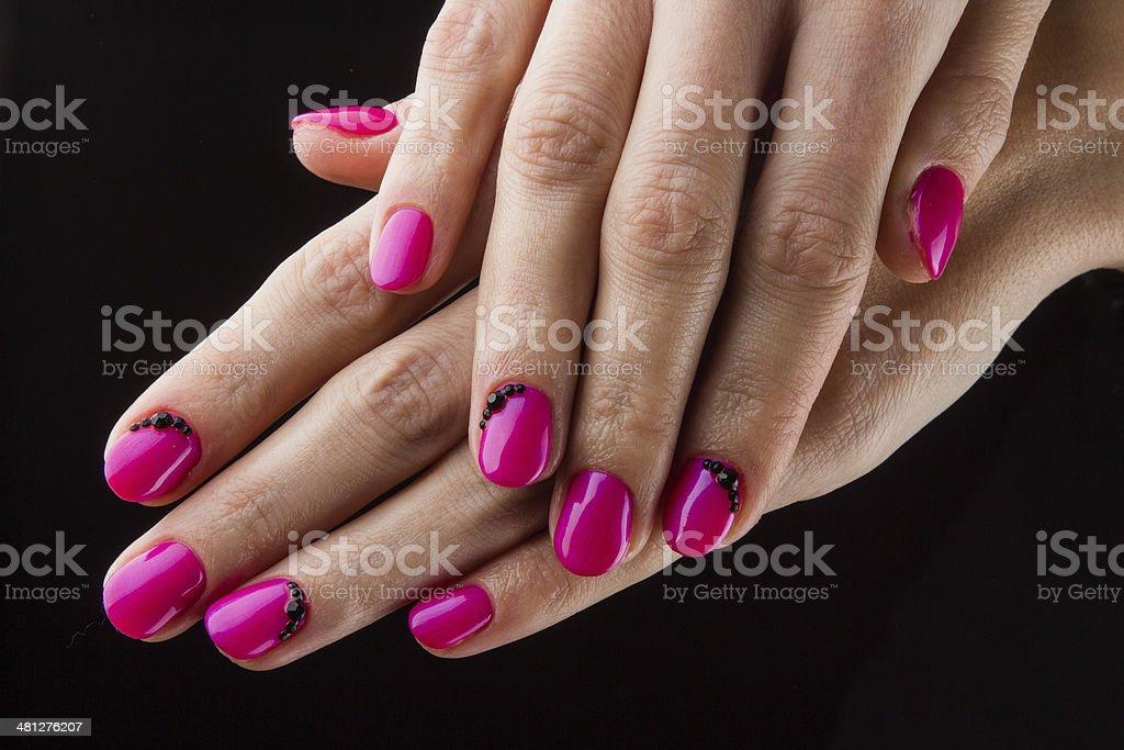 Malowane Różowy Ręce I Paznokcie Stockowe Zdjęcia I Więcej Obrazów