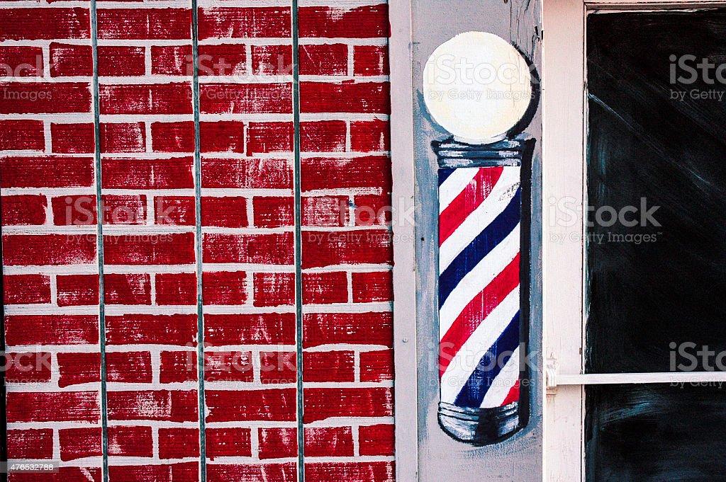 Painted Pole stock photo