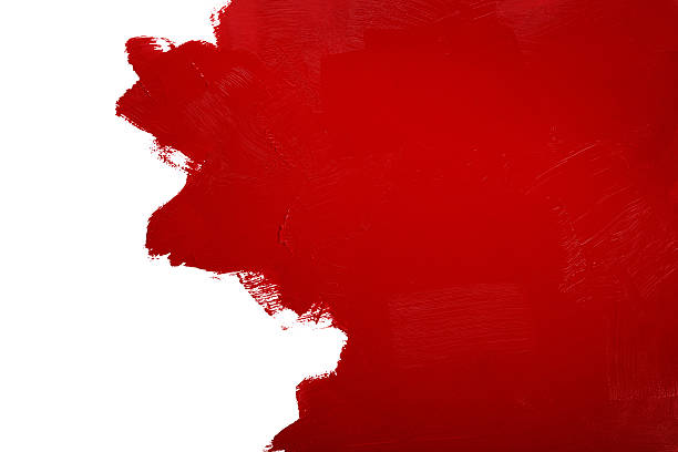 painted red wall stock photo