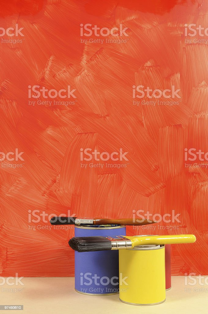 Painted red wall royalty-free stock photo