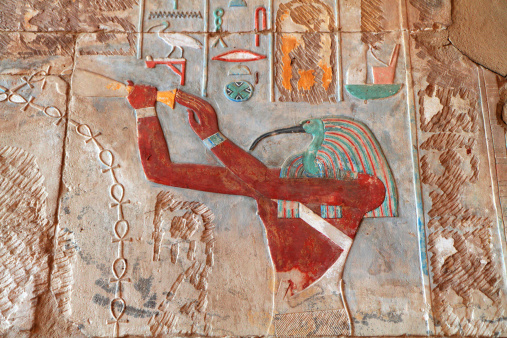 Painted Relief, Great Temple of Amun, Karnak, Egypt