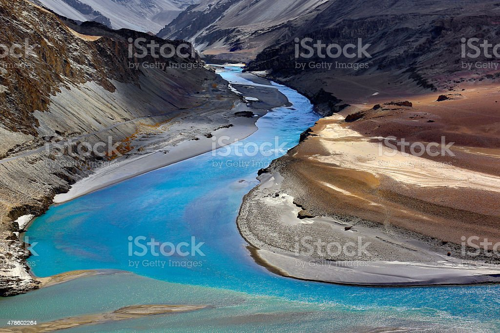 Painted River stock photo