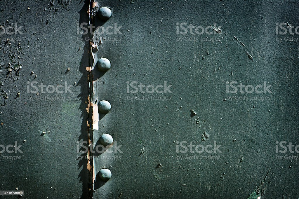 Painted Riveted Metal royalty-free stock photo