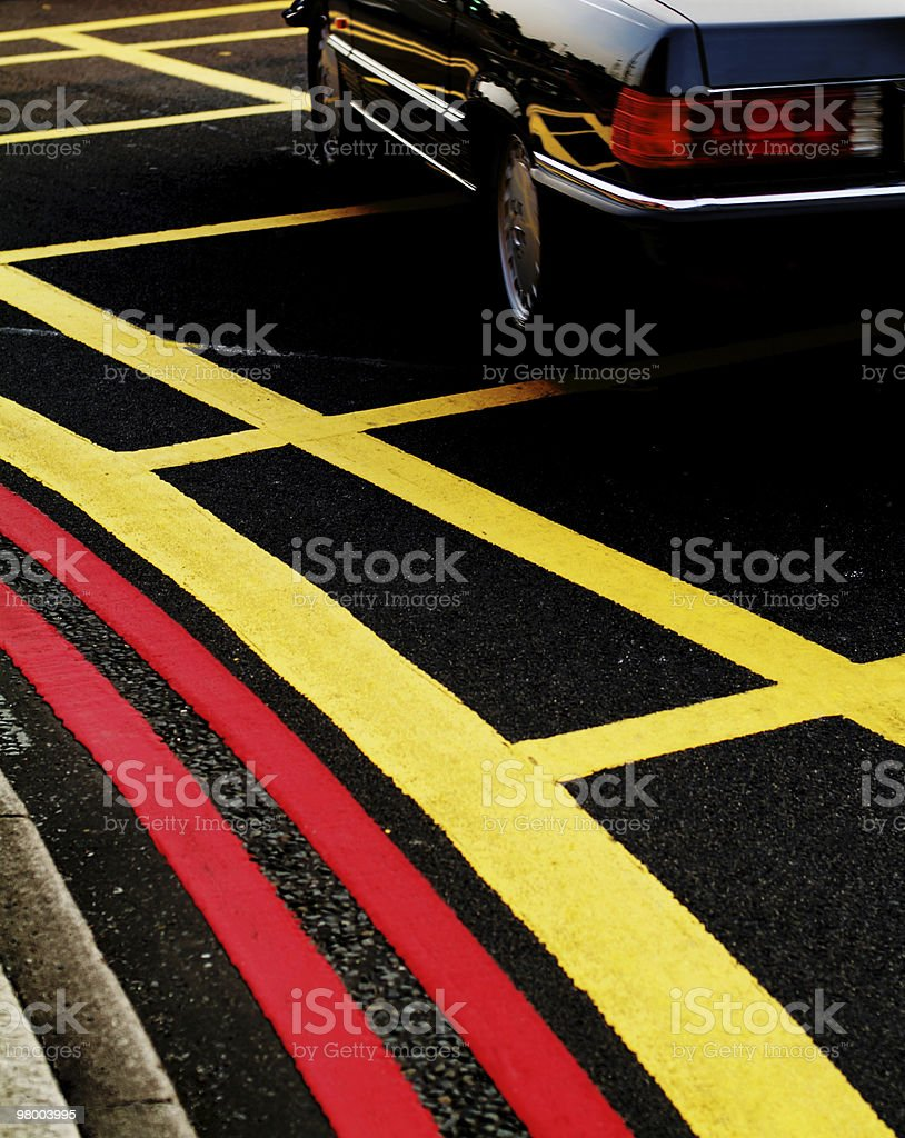 Painted road markings royalty-free stock photo