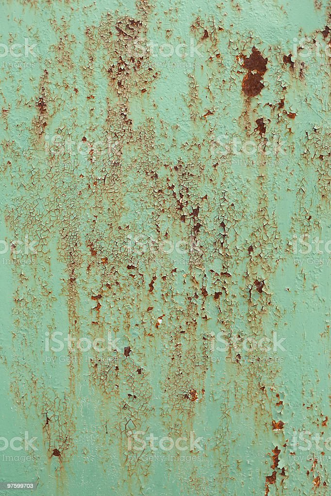 Painted rusted metal with crackling royalty-free stock photo