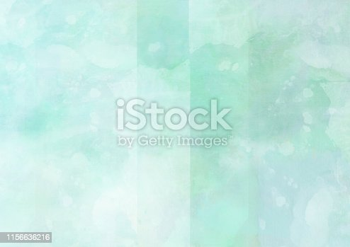 istock Painted soft green colored fantasy clouds 1156636216
