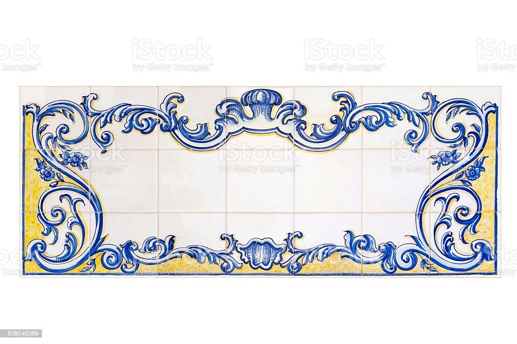 Espanhola pintada painel padrão - fotografia de stock