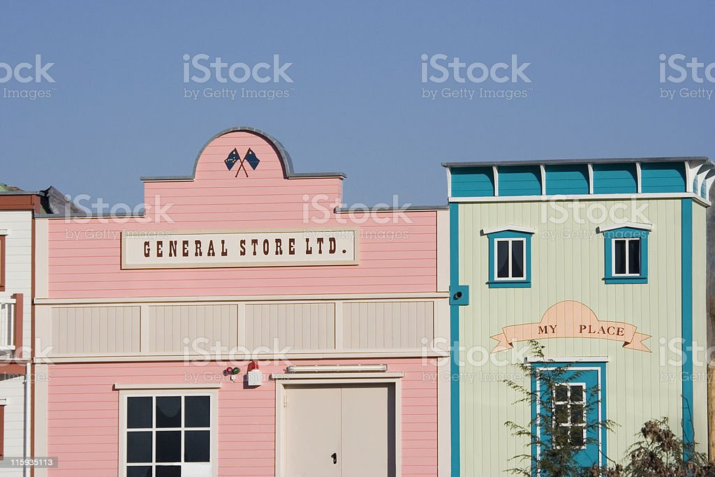 painted stores royalty-free stock photo