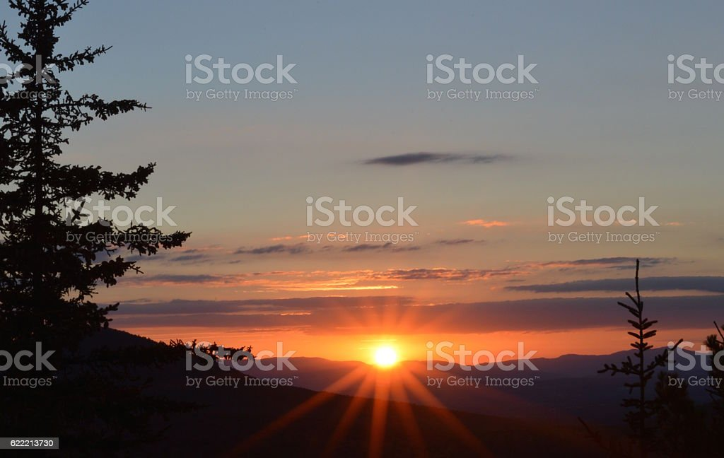 Painted Sunset stock photo