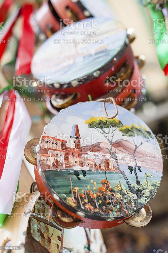 Dipinto Tamburello per la vendita a Napoli, Italia - foto stock