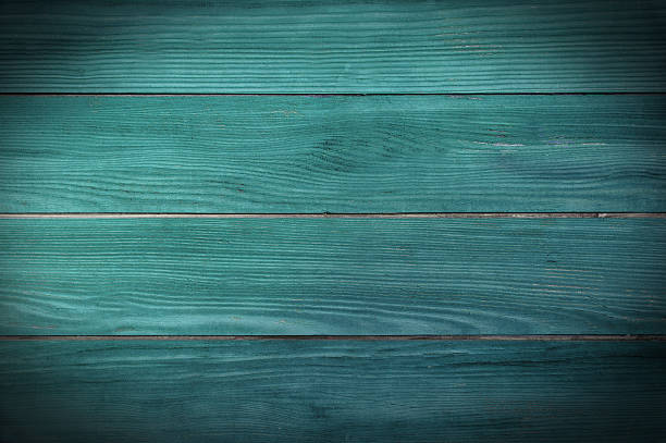 painted teal planks stock photo