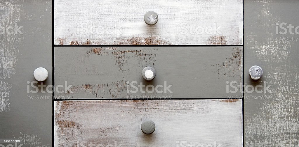 painted vintage drawer royalty-free stock photo