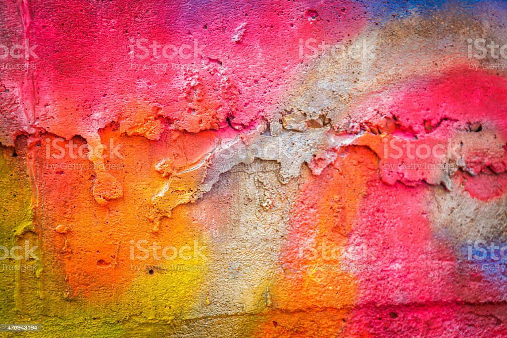 Painted wall stock photo