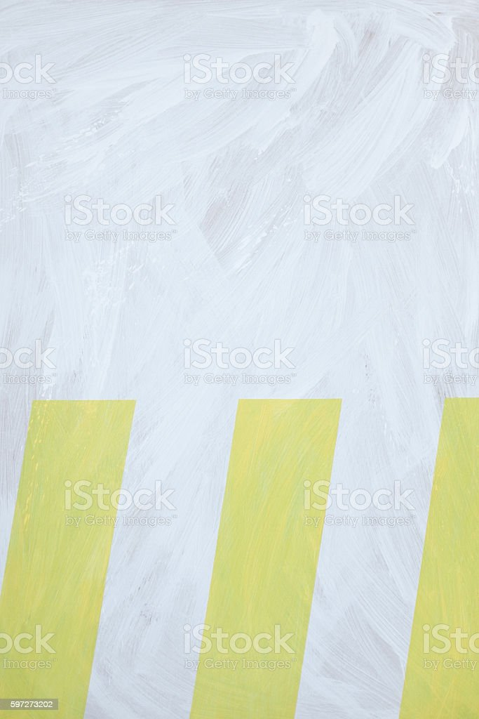 painted wall with yellow strips. royalty-free stock photo