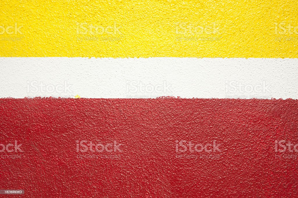Painted Wall, Yellow, White, Red Background, Grunge royalty-free stock photo