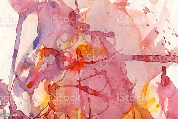Painted Watercolor Mess Stock Photo - Download Image Now