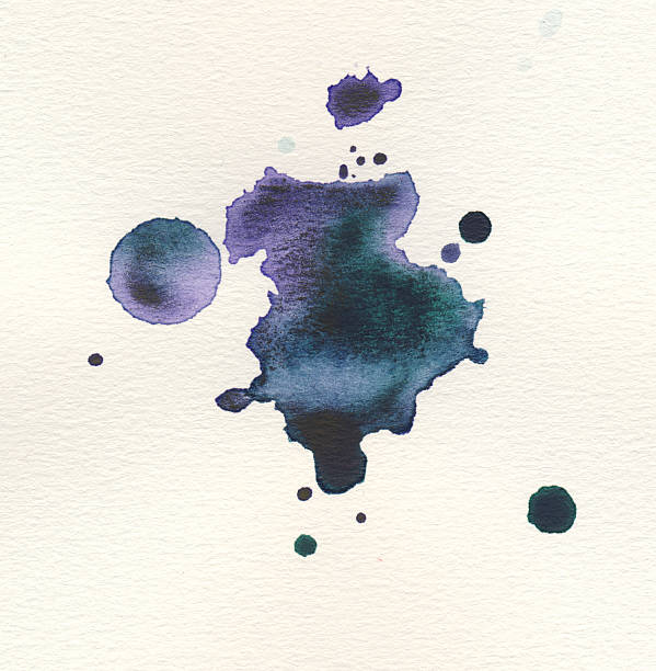 Painted watercolor on paper stock photo