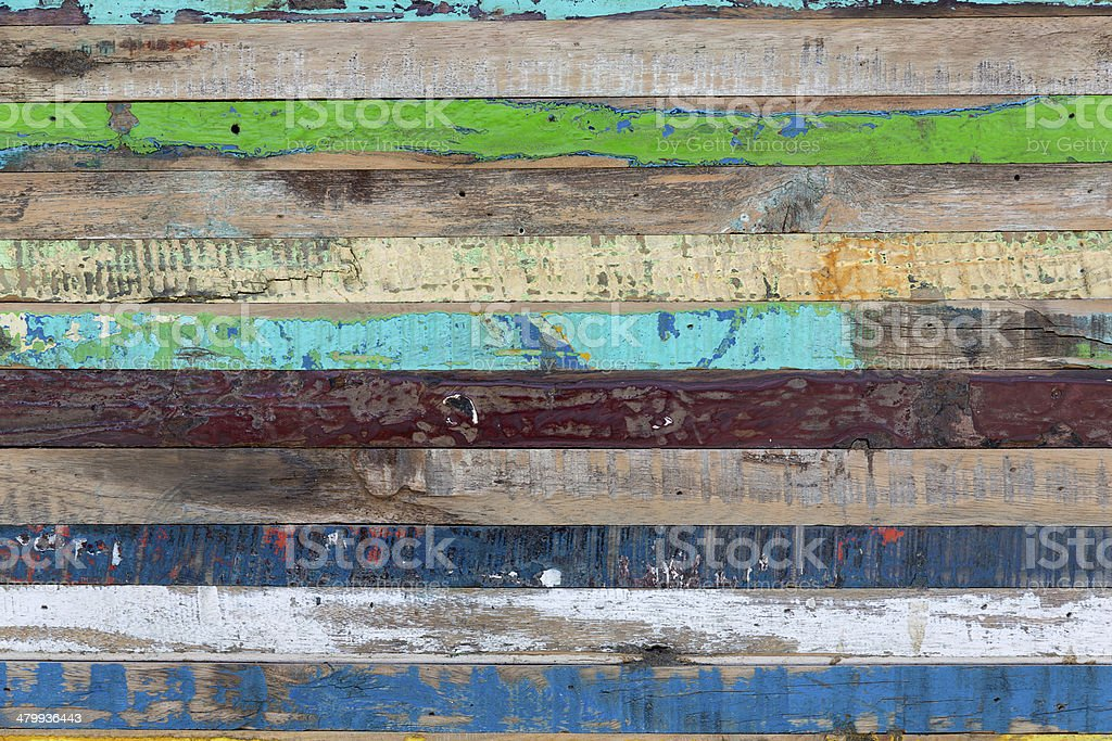 Painted weathered wood as background stock photo