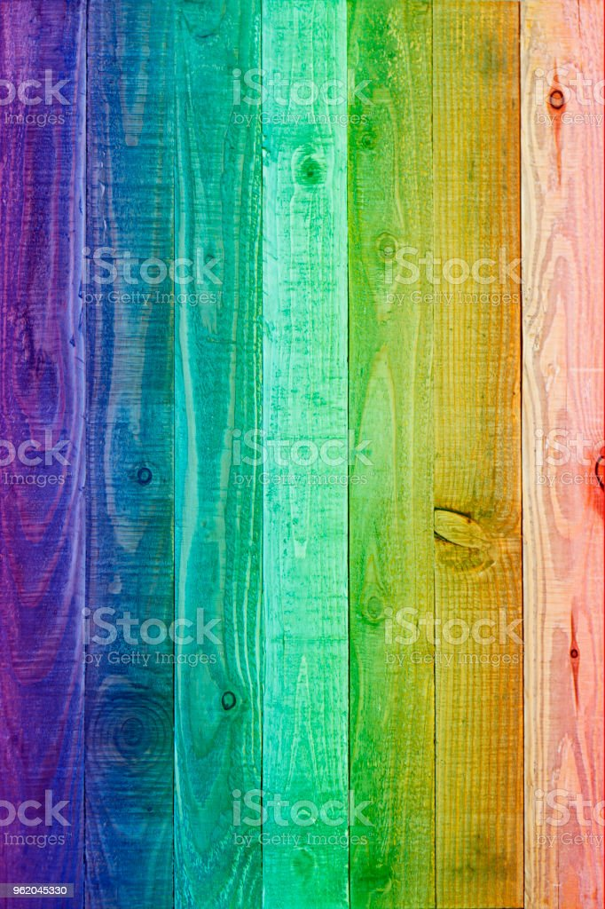 Painted wood floor - Colorful Wood Background stock photo
