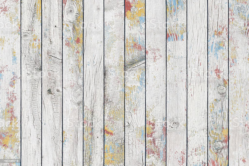 Painted wood stock photo