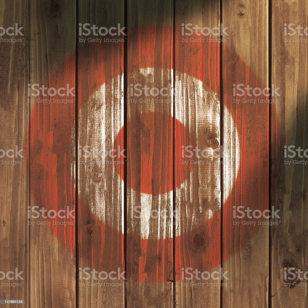 Painted Wood Target royalty-free stock photo