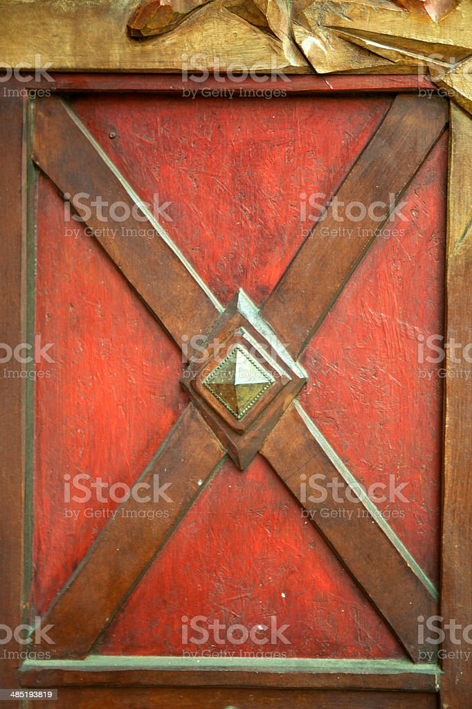Painted Wooden door parts - texture, royalty-free stock photo