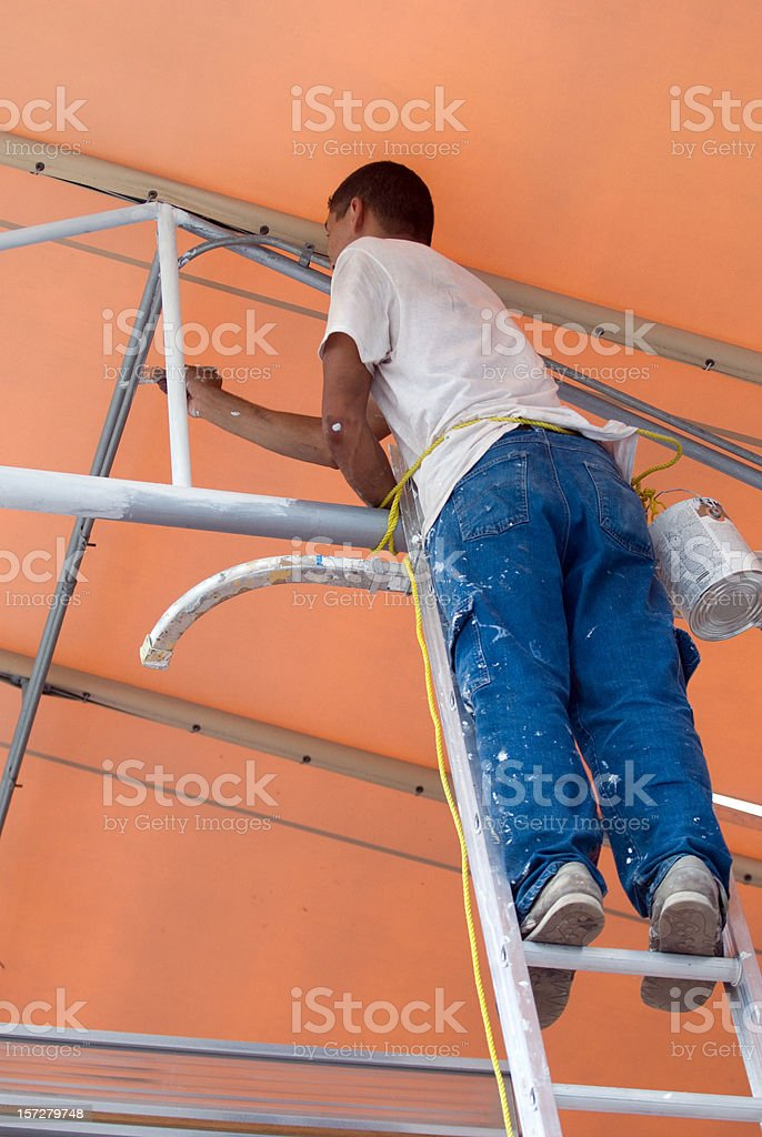 Painter at work royalty-free stock photo