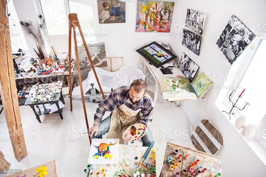 Maler bei der Arbeit  – Foto