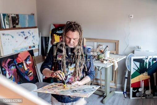istock Painter contemplating 1059142264