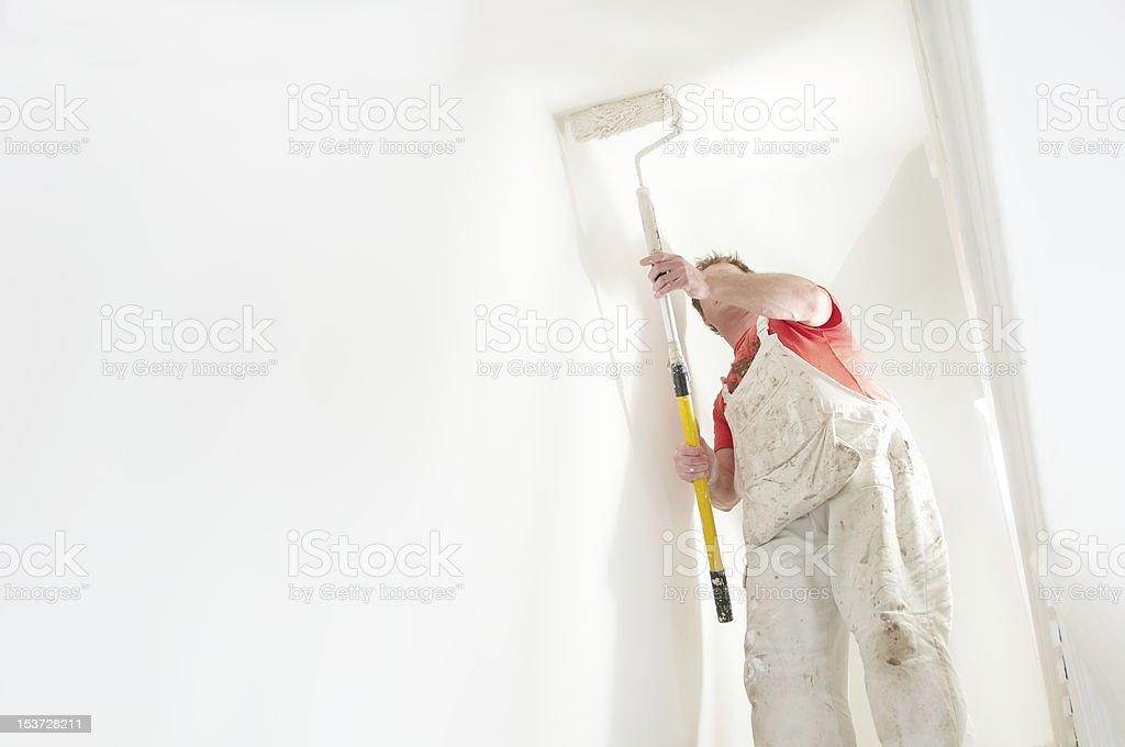 Painter Interior Decorating stock photo