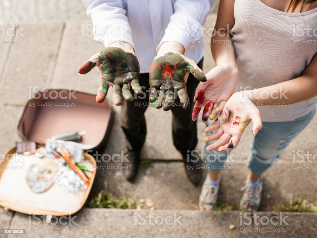 Painter lifestyle work art concept stock photo