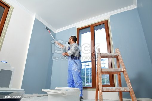 589454570 istock photo Painter man at work 1198703852