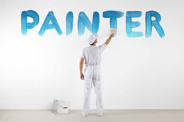 Painter man with paint brush drawing a blue painter text isolated on picture id813842692?b=1&k=6&m=813842692&s=612x612&w=0&h=hsfrqmicyxp4t c1bnf2qifnndqjq x qoteif5lpuo=
