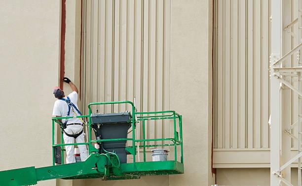 Painter on Lift stock photo