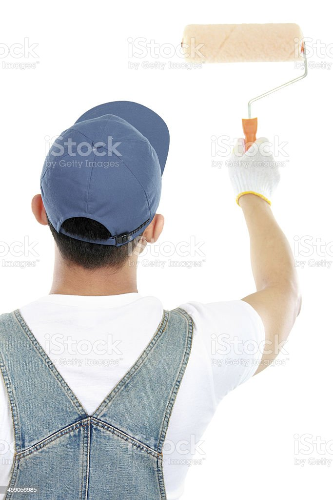 painter painting some walls royalty-free stock photo