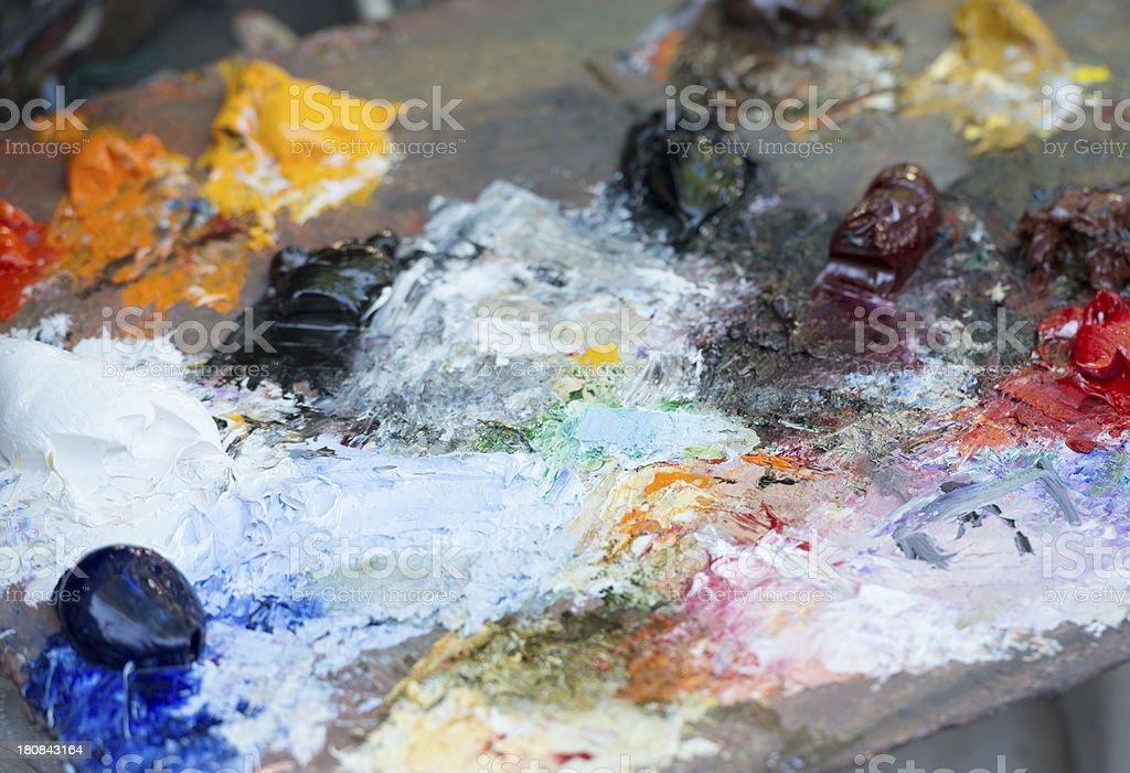 Painter Palette at Montmartre, Paris royalty-free stock photo